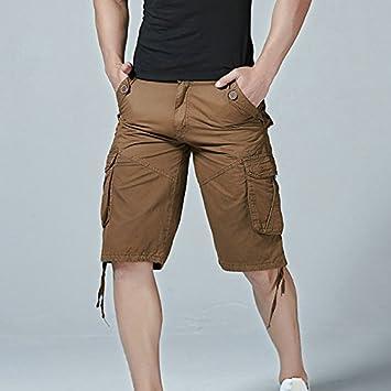 3b05f8671e WDDGPZDK Beach Shorts/ Men Cargo Shorts Casual Loose Camouflage Military Summer  Style Knee Length Shorts