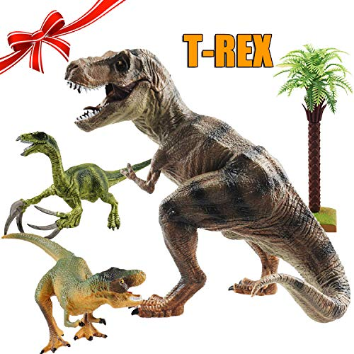 (Indominus Rex Toy, I Rex, T Rex, Large Dinosaur Toys, Jurassic Tyrannosaurus Rex, Dinosaur Birthday Party Supplies, Dino Figures Playset, Gifts for 3 4 5 6 Year Old Boys Kids Toddlers, Pack of 4)