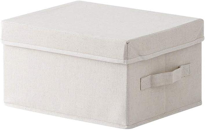 NJYT Ropa Organizador Caja Gran Capacidad Lavable El Lino Transpirable Ropa Organizador Caja para Juguetes Chaquetas Ropa Pluches (Tamaño : L): Amazon.es: Hogar