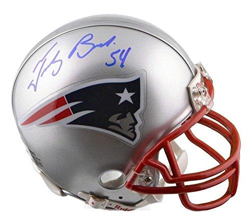 Tedy Bruschi Autographed Mini Helmet - Autographed NFL Mini Helmets Sports Memorabilia