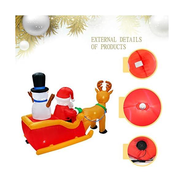 PARAYOYO - Babbo Natale gonfiabile con renna e pupazzo di neve per decorazioni natalizie 5 spesavip