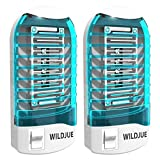 WILDJUE 2 Pack Bug Zapper Electronic Insect Killer Mosquito Killer Lamp,Eliminates Most Flying Pests Night Lamp - Blue