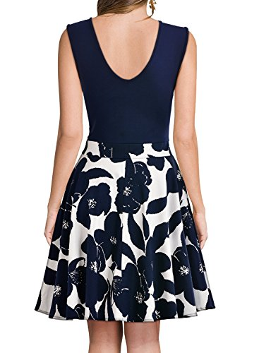 Mini navy blue cocktail dress