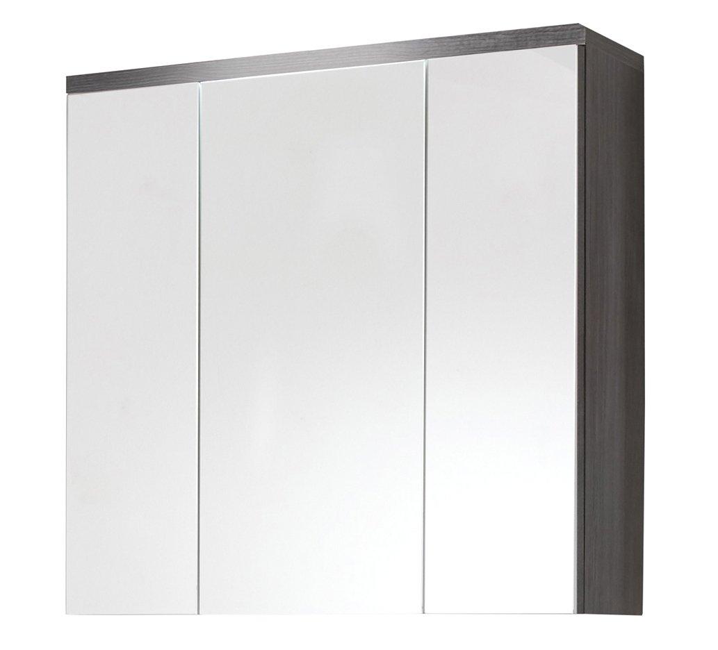 Trendteam ado50121 Meuble miroir salle de bain fumée Argent - L x H x P 80 x 72 x 21 -5 cm