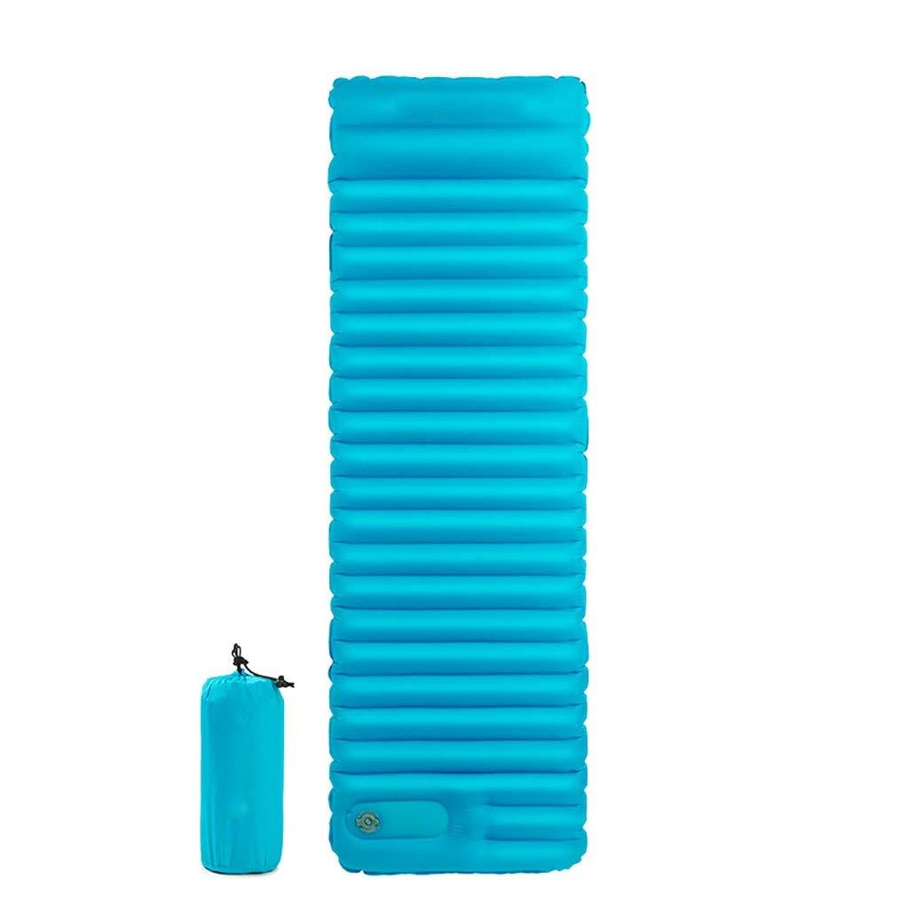 Rcd Luftbett 7,5 cm Verdicken Isomatte Mit Kissen Leichte Outdoor Zelt Schlafsack Aufblasbare Feuchtigkeitsfeste Matratze (Farbe   Blau)