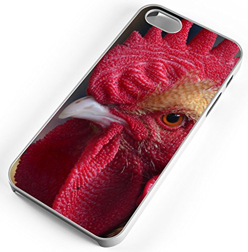 iPhone 7 Plus 7+ Case Chicken Hahn Cockle Poultry Cockscomb Livestock Customizable TYD Designs in White Rubber