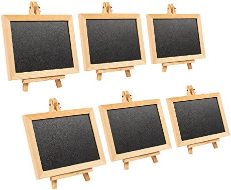 Decorative Easels For Weddings.Wooden Framed Chalkboard Sign 6 Pack Decorative Removable Chalk Board With Easel Stand For Restaurants Weddings Cafe Black 7 X 7 X 4 25 Inches