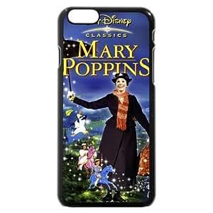 Diy Black Hard Plastic Plastic Disney Cartoon Mary Poppins Diy For Iphone 5/5s Case Cover Case, Only fit Diy For Iphone 5/5s Case Cover