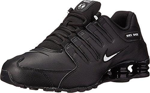 9b9abfb6710 Nike Men s Shox NZ Running Shoe Black White Black - 10.5 D(M ...