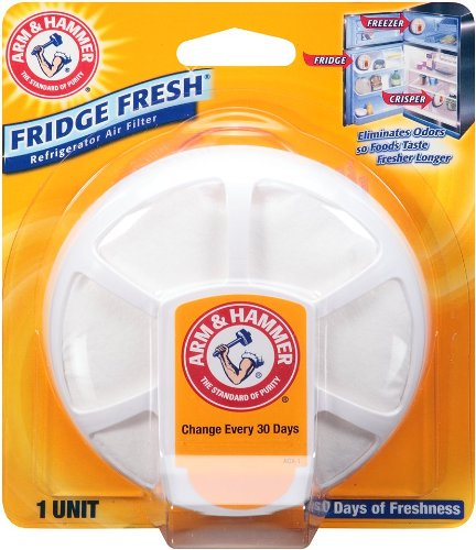 Arm & Hammer Fridge Fresh Refrigerator Air Filter (Pack of 4) (Arm & Hammer Baking Soda)