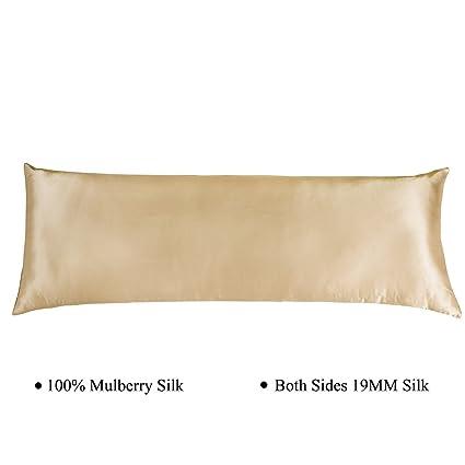 Amazon Cozysilk Body Pillowcase 40% Silk 40 Momme Zippered Magnificent Body Pillow Cover 20 X 54