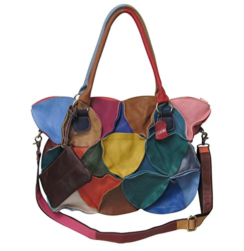 Amerileather Lotus Leather Tote Bag (#1919-9) ()