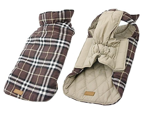 iToolai Dog Outfits Winter for Medium Dogs Boy Girl Cute Plaid Reversible Warm Dog (Childrens Shepherds Outfit)