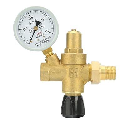 DN15 DN20 Valvula de llenado alimentacion de agua para caldera calentador solar calefactor - con manometro