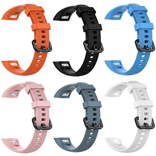 6 Mallas De Colores Para Reloj Honor Band 5