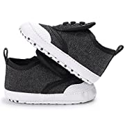 Save Beautiful Toddler Baby Girls Boys Shoes Infant First Walkers Sneakers (0-6months, A-Black)