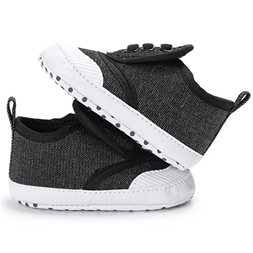 er Baby Girls Boys Shoes Infant First Walkers Sneakers (12-18months, A-Black) ()