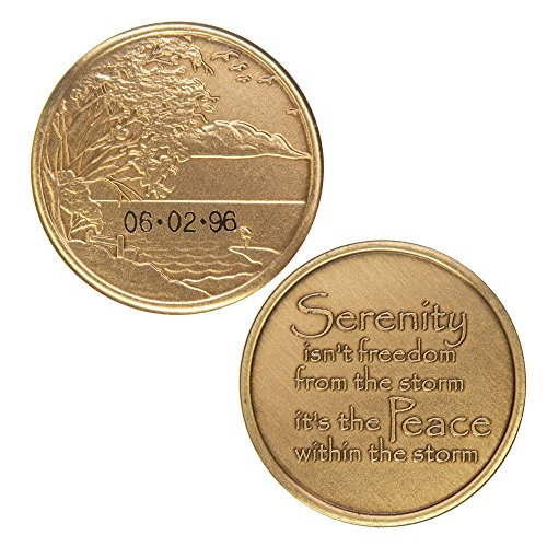 Personalized Custom Engraved - Serenity & Peace - Bronze AA (Alcoholics Anonymous)-ACA-AL-ANON-Sober-Sobriety-Birthday-Anniversary-Recovery-Medallion-Coin-Chip