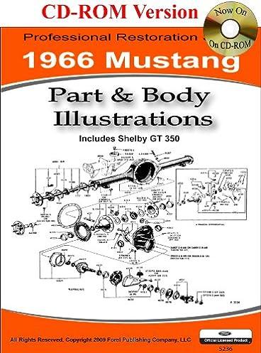 1966 Colorized Mustang Wiring Diagrams: David E. LeBlanc: 9781603710251: Amazon.com: Books