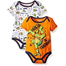 Nickelodeon Baby Boys' Teenage Mutant Ninja Turtle 2 Pack Bodysuit Layette Set, Orange, 3-6 Months