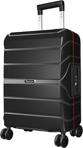 Modoker 20 Hardside Carry On Spinner Suitcase Black