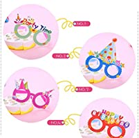 Toyvian Dibujos Animados Feliz cumpleaños Papel Gafas Marco ...