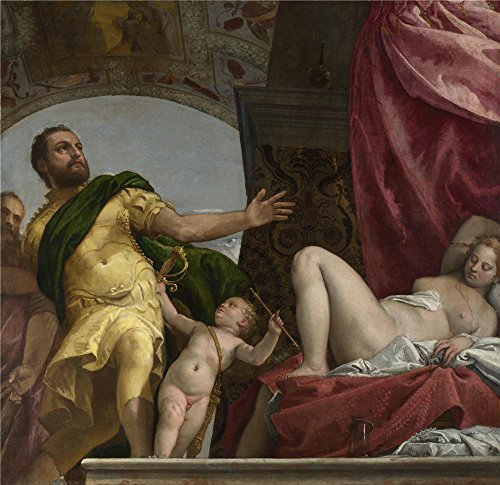 Venetian Bronze Estate Series (Oil Painting 'Paolo Veronese Respect', 8 x 8 inch / 20 x 21 cm , on High Definition HD canvas prints is for Gifts And Foyer, Home Theater And Study Room Decoration, on print)