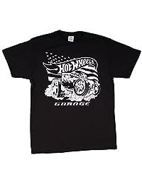 Hot Wheels Men's Muscle Car Smoke T-Shirt Black