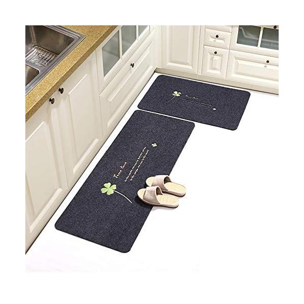 "Anti Fatigue Kitchen Floor Mat,Set of 2,Waterproof,Non Slip,Eco-Friendly Safe Material,Dog Dogo Argentino Cartoon Vector Illustration (15""x47""+15""x23"") 3"