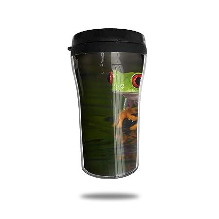 OUYouDeFangA - Taza de café con diseño de Rana con Ojos ...