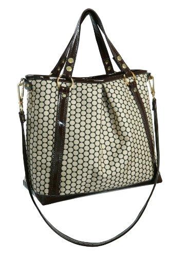 Mia Bossi Lyndsey Diaper Bag, White Cocoa (Cocoa Couture)