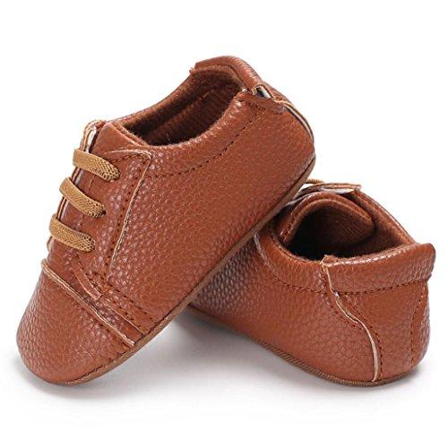 Hunpta Baby Säugling scherzt Mädchen Jungen weiche alleinige Krippe Kleinkind Neugeborene Schuhe Braun