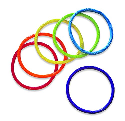 Aqua Dive Rings Pool Toy, 6 Ring Game Set, Dive & Retrieve, Ages 5 and Up