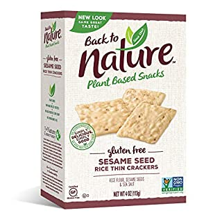 Back to Nature Non-GMO Rice Thins, Gluten Free Sesame Seed, 4 Ounce