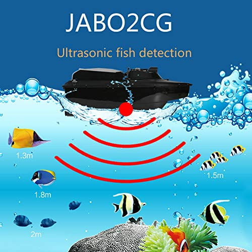 JABO RC Futterboot K/öderboot K/öderboot 2,4G GPS Ultraschallfisch Dection Finder 2CG-20A Automatische Navigation