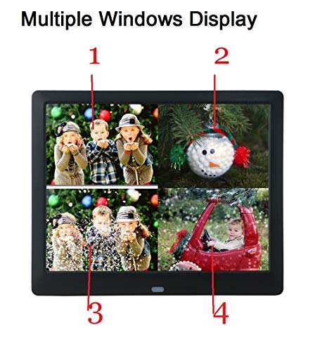 9 Inch Digital Picture Frame 1080P IPS Electronic Photo Frames Full Angle 1280x800 HD Signage USB SD/SDHC for Wedding Birthday Gift- Black by Véfaîî (Image #2)