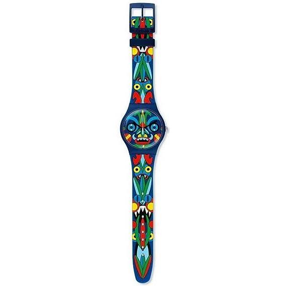 Swatch Reloj Digital de Cuarzo para Mujer con Correa de Silicona - SUOZ171: Amazon.es: Relojes
