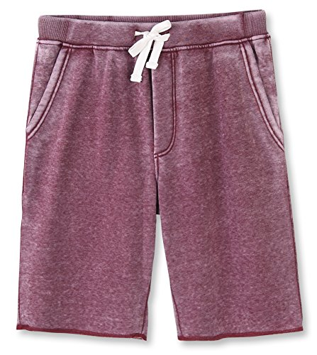 (HETHCODE Men's Casual Classic Fit Cotton Elastic Fleece Jogger Gym Shorts Burnout Wine XXL)