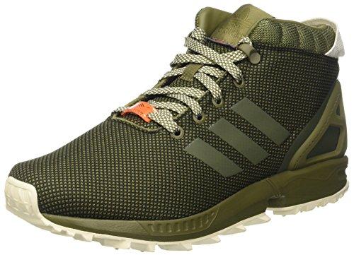 adidas ZX Flux 5/8 TR, Scarpe da Ginnastica Uomo Verde (Olicar/Cblack/Cwhite)