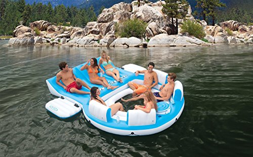 Intex Relaxation Island Blue White ()