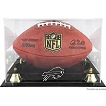Golden Classic Football Display Case with Buffalo Bills Logo