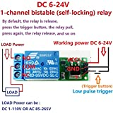 Electrical Equipments 2X Dc 6V 9V 12V 24V Flip-Flop Latch Relay Module Bistable Self-Locking Switch Low Pulse Trigger Board For Arduino Smart Home Led