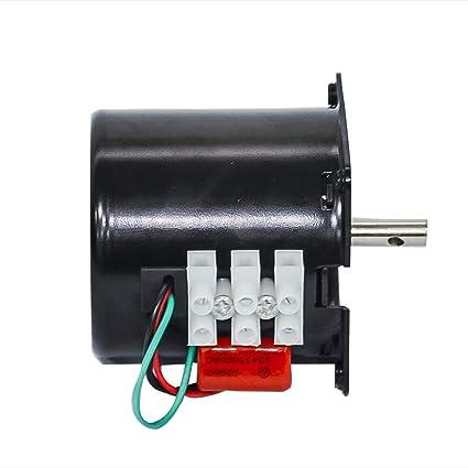 Petit moteur /électrique /à engrenages AC 220 V 14 W r/églable /à faible vitesse permanent moteur synchrone pour tourne-disque rotatif 60 AC 220 V 1.2 RPM