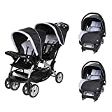 Baby Trend Sit N Stand Double Stroller with 2 Car Seats Travel System, Stormy
