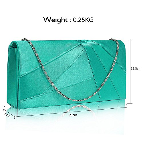 Hard 1 Designer Ladies Women Handbag Party New Satin Wedding Emerald look Evening Clutch Case For Luxury Purse Design Bag qTnXTxfw76
