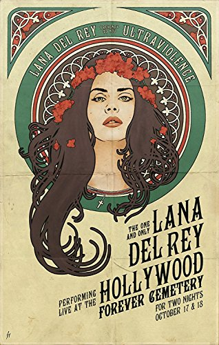 Lana Del Rey Star Fabric Cloth Rolled Wall Poster Print