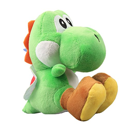 UiUoU Super Mario Bros. Green Yoshi Plush Toy Stuffed Animal Doll (Cheap Mario Plushies)