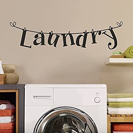 Wall Decal Decor Laundry Room Wall Decals - Laundry Room Sticker - Laundry Room Wall Decor & Amazon.com: Wall Decal Decor Laundry Room Wall Decals - Laundry Room ...