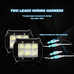 Nilight LED Light Bar Wiring Harness Kit 12V On Of