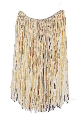 Tahitian Hula Costume (Tan One Size Adult Raffia Hula Costume Skirt - (Skirt Only))